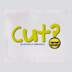 cut_shower Throw Blanket
