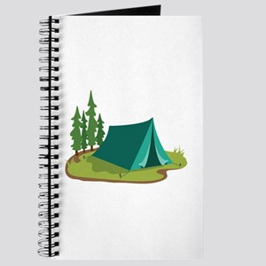 Tent Camping Nature Journal