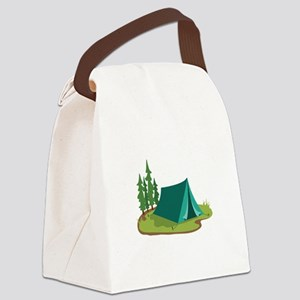 Tent Camping Nature Canvas Lunch Bag