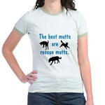 Best Mutts Are Rescues Jr. Ringer T-Shirt