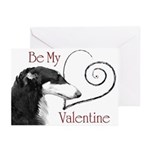Borzoi Valentine Red-Black Cards 20 PK