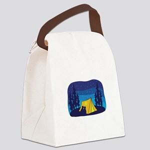 Night Camping Tent Canvas Lunch Bag