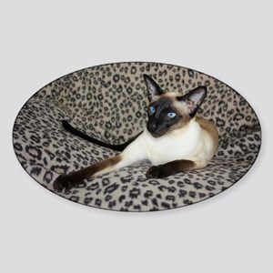 Seal Point Siamese Cat with beautif Sticker (Oval)