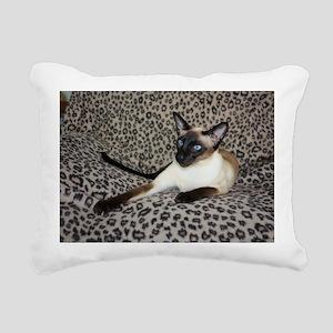 Seal Point Siamese Cat w Rectangular Canvas Pillow