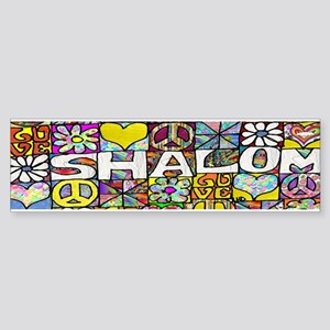 Psychedelic Shalom Bumper Sticker