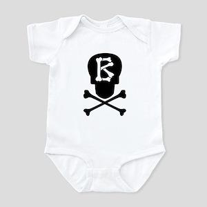 Skull & Crossbones Monogram B Infant Bodysuit
