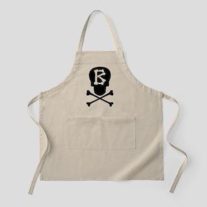 Skull & Crossbones Monogram B Apron
