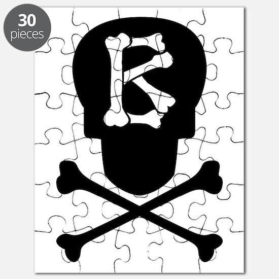 Skull & Crossbones Monogram B Puzzle