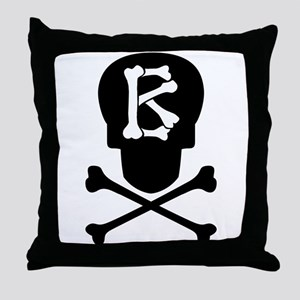 Skull & Crossbones Monogram B Throw Pillow