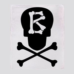 Skull & Crossbones Monogram B Throw Blanket