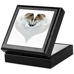 Borzoi Love Valentines Keepsake Box