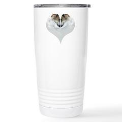 Borzoi Love Valentines Travel Mug