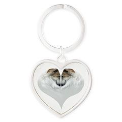 Borzoi Love Valentines Keychains
