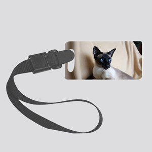 Seal Point Siamese Cat Blue Eyes Small Luggage Tag