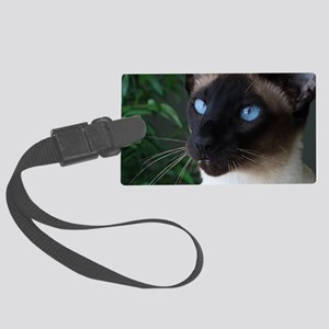 Seal Point Siamese Cat Blue Eyes Large Luggage Tag