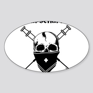 MursenariesBlackonWhitef Sticker