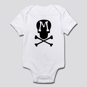 Skull & Crossbones Monogram M Infant Bodysuit