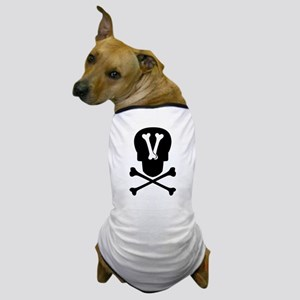 Skull & Crossbones Monogram V Dog T-Shirt