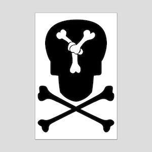 Skull & Crossbones Monogram Y Mini Poster Print