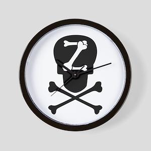 Skull & Crossbones Monogram Z Wall Clock
