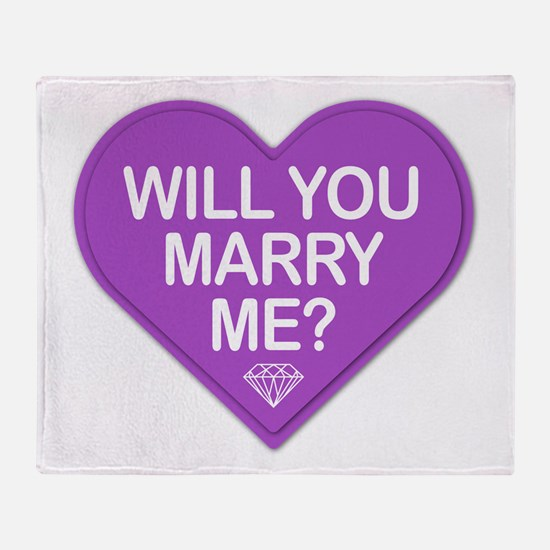 Candy Will You Marry Me? Throw Blanket
