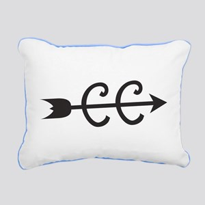 cross country symbol Rectangular Canvas Pillow