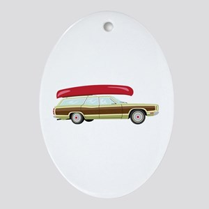 Station Wagon and Canoe Ornament (Oval)