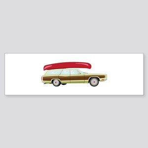 Station Wagon and Canoe Bumper Sticker