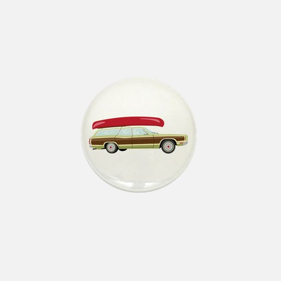 Station Wagon and Canoe Mini Button