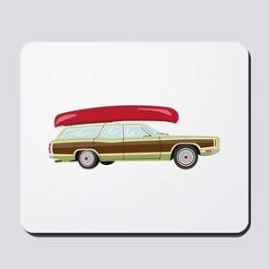 Station Wagon and Canoe Mousepad