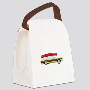 Station Wagon and Canoe Canvas Lunch Bag
