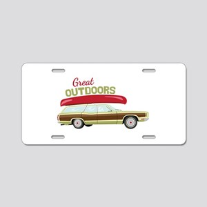 Great Outdoors Aluminum License Plate