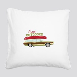 Great Outdoors Square Canvas Pillow