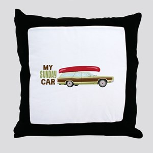 My Sunday Car Throw Pillow
