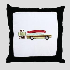 My Sunday Car Throw Pillow