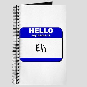 hello my name is eli Journal