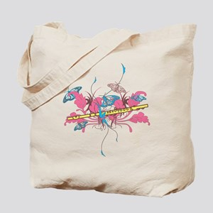 Butterfly Flute Tote Bag