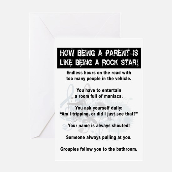 Rock Star Parent Greeting Card