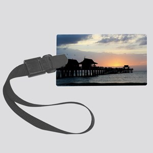 Pier Silhouette  Large Luggage Tag
