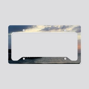 Pier Silhouette  License Plate Holder