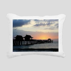 Pier Silhouette  Rectangular Canvas Pillow