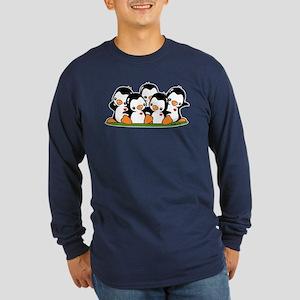 Penguins Long Sleeve Dark T-Shirt