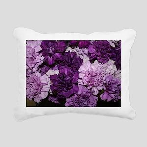 Purple Carnations Flower Rectangular Canvas Pillow