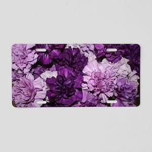 Purple Carnations Flower Ar Aluminum License Plate