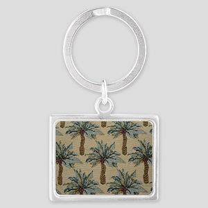 Palm Trees Fabric Pattern Landscape Keychain