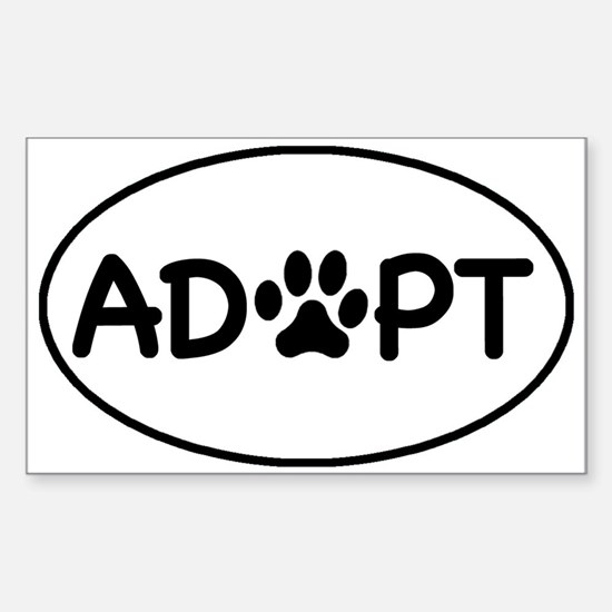 Adopt White Oval Oval Decal