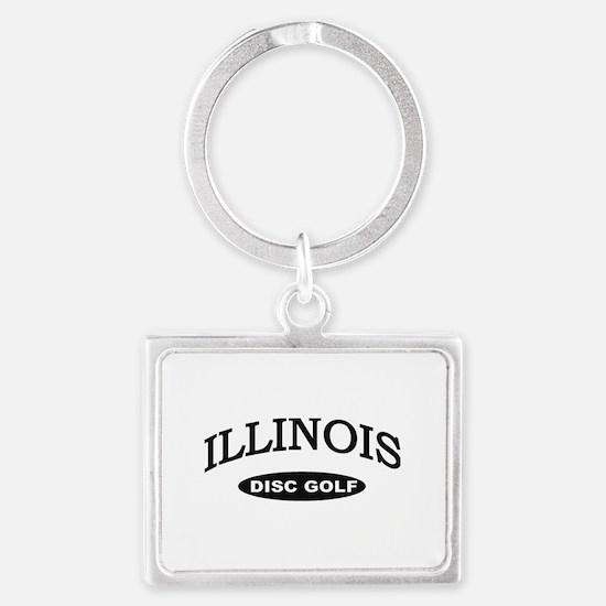 Illinois Disc Golf Landscape Keychain