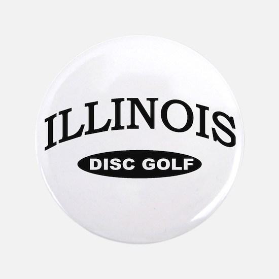"""Illinois Disc Golf 3.5"""" Button"""