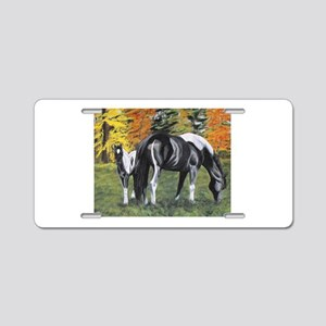 Fall Mare and Foal Aluminum License Plate