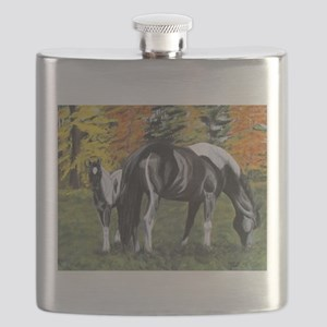 Fall Mare and Foal Flask